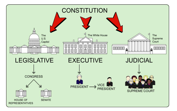 Image result for three branches of government cartoons
