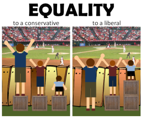 Equality via Being Liberal on Facebook