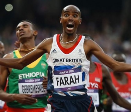 Mo Farah via Telegraph.co.uk : Reuters