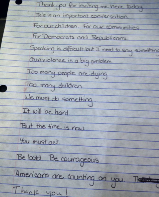 Gabby Gifford's Notes 1-30-13