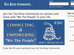 Tea Party Facebook tea party community.com