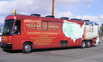 Tea Party Express Bus