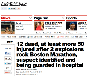 NYPost Headline 4-15-13