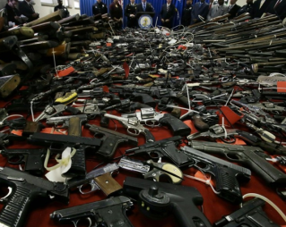 Huge Pile of Guns via Washington Post.com