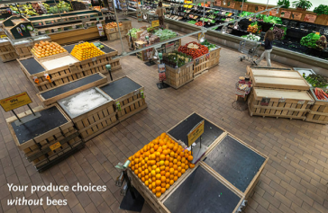 Produce Department w:o Bees via fastcodesign.com