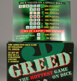 Greed via Wikimedia Commons