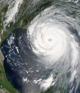 Hurricane Katrina image via Wikipedia