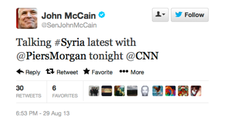 McCain on CNN 8-29-13