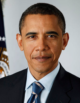 Obama image via Pete Souza wikimedia commons