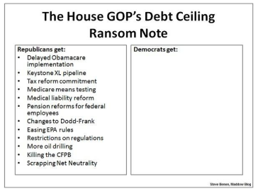 R Debt Ceiling Demands via billmoyers.com