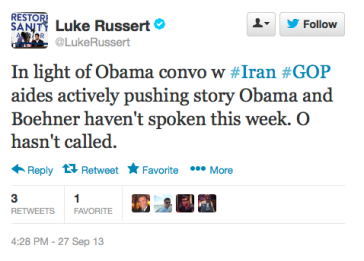Russert Tweet of the Day 9-27-13