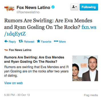 Fox News Latino Tweet 10-30-13