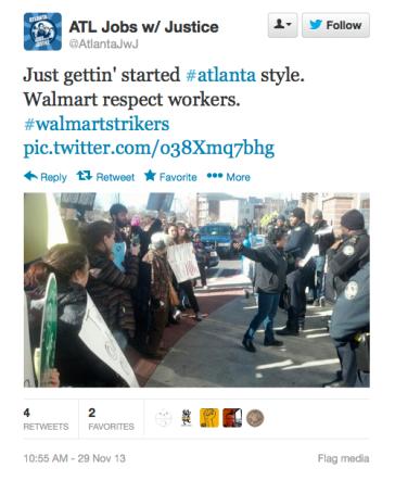 Walmart protest A