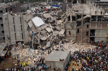 Bangladesh factory collapse via Wikipedia.org