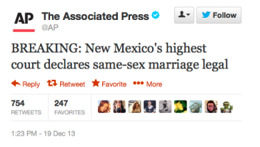 NM Legalizes Same Sex Marriage