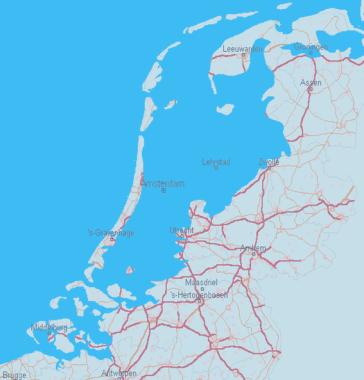The Netherlands without dikes via Maps Are Amazing.com AmazingMaps