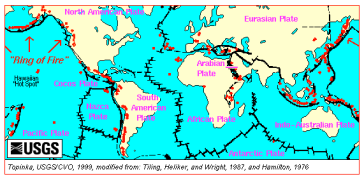 Tectonic Plates via vulcan.wr.usgs.gov