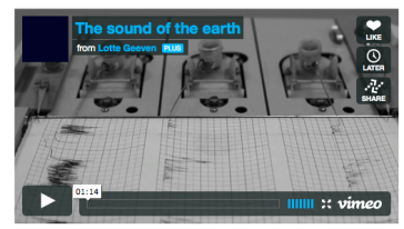 The sound of the earth via via blogs.discovermagazine.com
