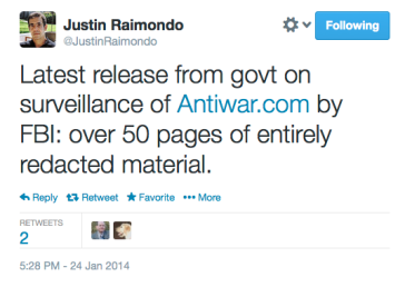 AntiWar FOIA request