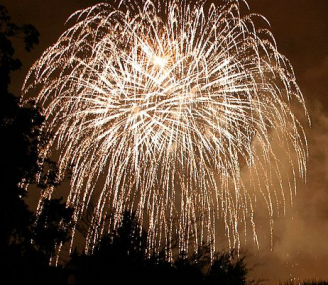 Fireworks via Wikimedia commons
