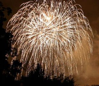 Fireworks via Wikimedia commons