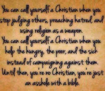 If You call yourself a christian