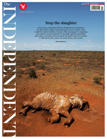 UK Independent re Elephant poaching 2-12-14