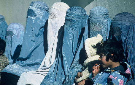 Burkas via Nitin Madhav (USAID)  Wikimedia Commons