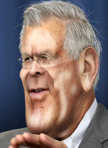 Donald Rumsfeld via DonkeyHotey on flickr