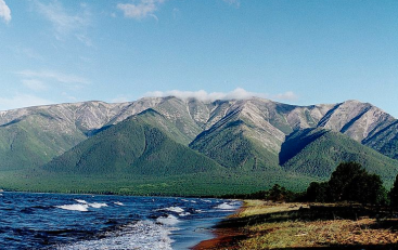 Eastern shore of  Lake Baikal, Siberia via Wikimedia Commons