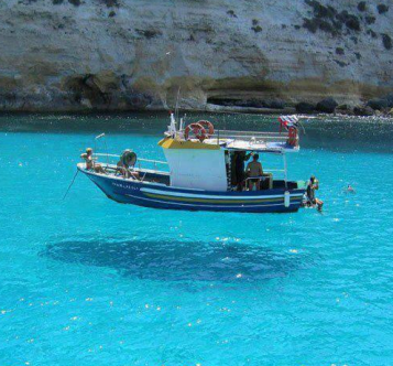 """Hovering boat via @EarthPix"