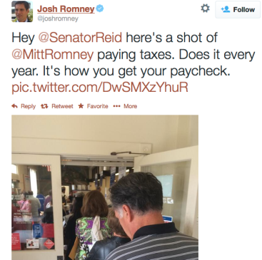 Romney filing tax return via