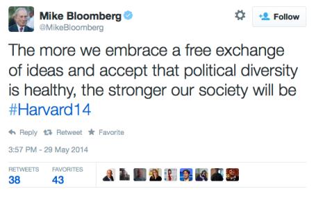 Bloomberg Tweet fre Diversity