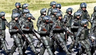 Brazilian soldiers prepare for world cup ap via DailyMail.co.uk