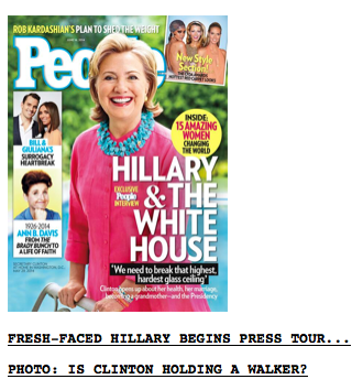 Hillary Holding a Walker?  Drudge
