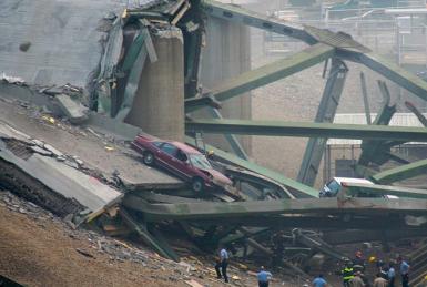 I-35W Bridge Collapse, Minneapolis, MN, August 1, 2007
