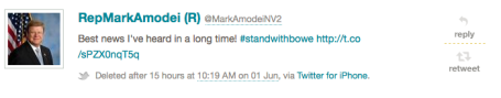 Mark Amodei Tweet via Politwoops.sunlightfoundation.com