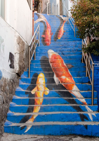 Stairs in Seoul, South Korea via earth-pics.com