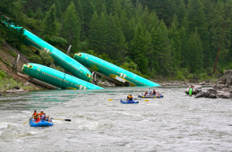 Boeing Fuselages in river King5.com photo kyle massick