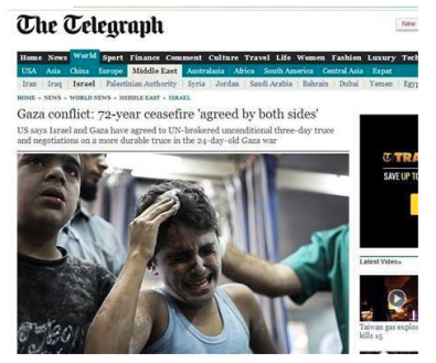 Telegraph 72 Hour ceasefire