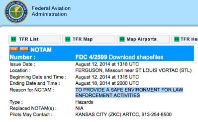 FAA over Ferguson