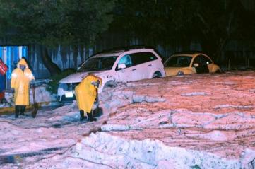Hail in Mexico City
