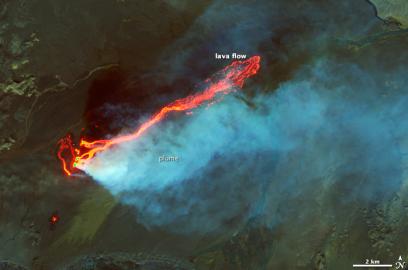 Bardarbunga erupting via NASA