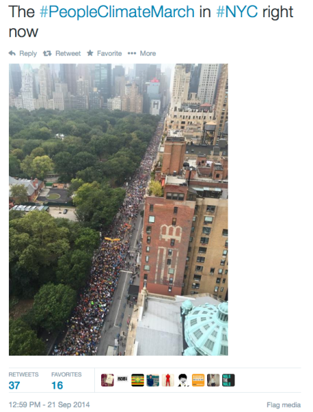 Climate March in NYC via @ReadContra on Twitter