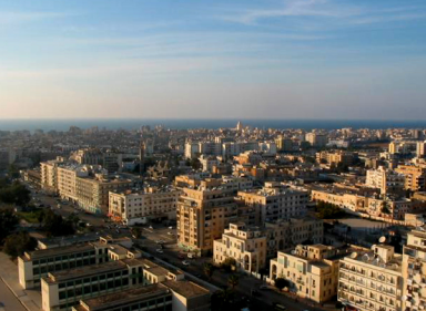 Downtown Benghazi via Wikipedia