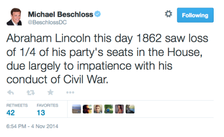 Election Day 1865:2014 Tweet