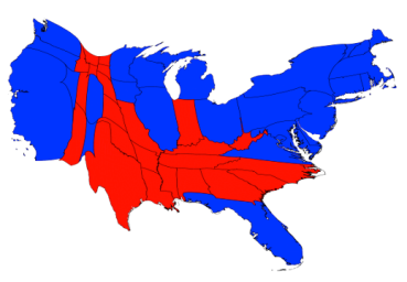 Election map based on pupulation