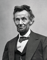 Lincoln in 1865 - About 2 mos before his death via wikipedia