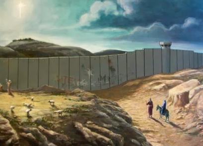 Banksy's Christmas Card via Greg Mitchell
