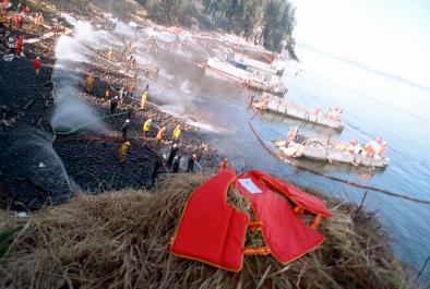 Exxon Valdez Cleanup via Wikimedia